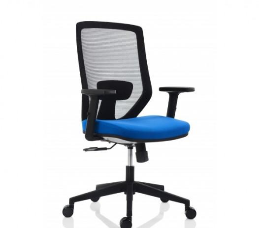 Scaun ergonomic 30.12.48, spătar mesh, șezut poliuretan, înălțime reglabilă